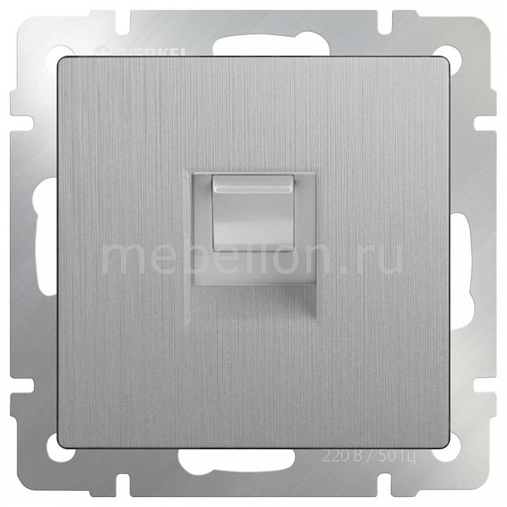Розетка Ethernet RJ-45 без рамки Werkel Серебряный рифленый WL09-RJ-45 chkj серебряный 42 мм