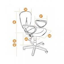 Кресло компьютерное СН 413 серое
