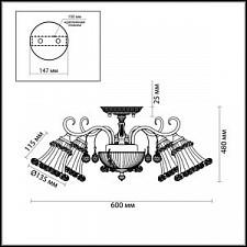 Люстра на штанге Odeon Light 2894/5C Salmora