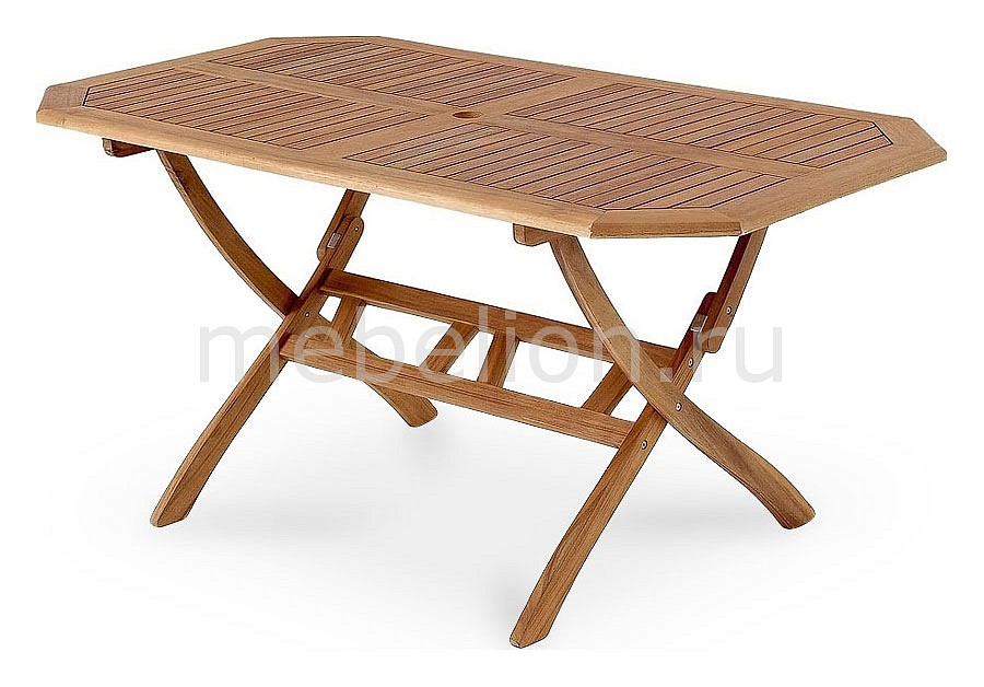 Стол для сада Brafab Стол обеденный Everton 10742 коричневый стол обеденный cosmo tulip темно коричневый белый