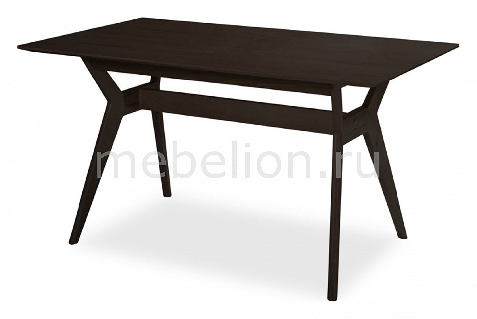 Стол обеденный Ресторация Наврик раздвижной большой стеклянный обеденный стол кубика нагано 2 стекло стекло темно коричневое венге