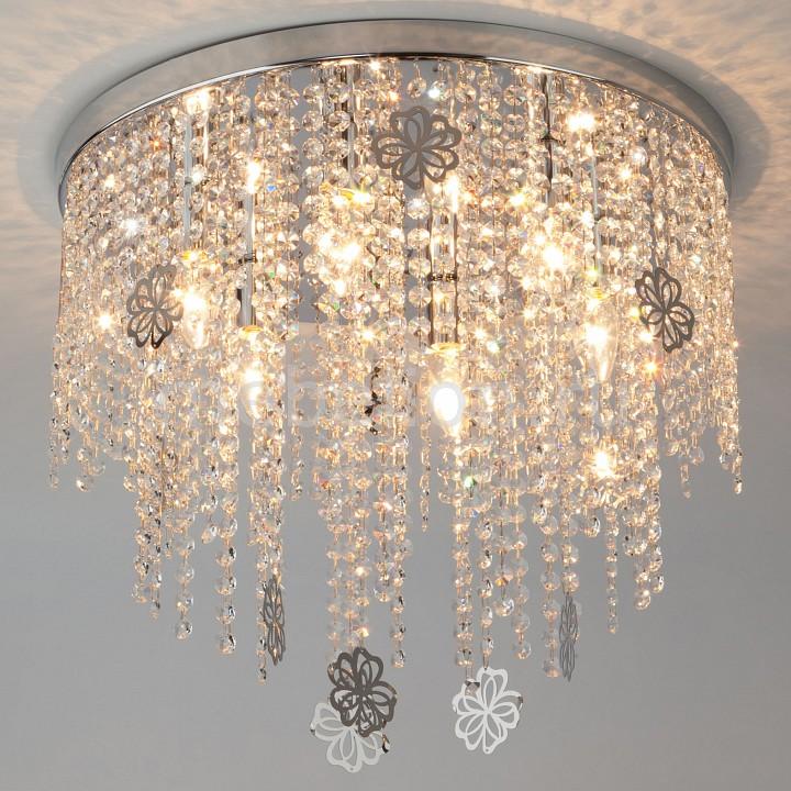 Накладной светильник Eurosvet 10083/6 хром/прозрачный хрусталь Strotskis