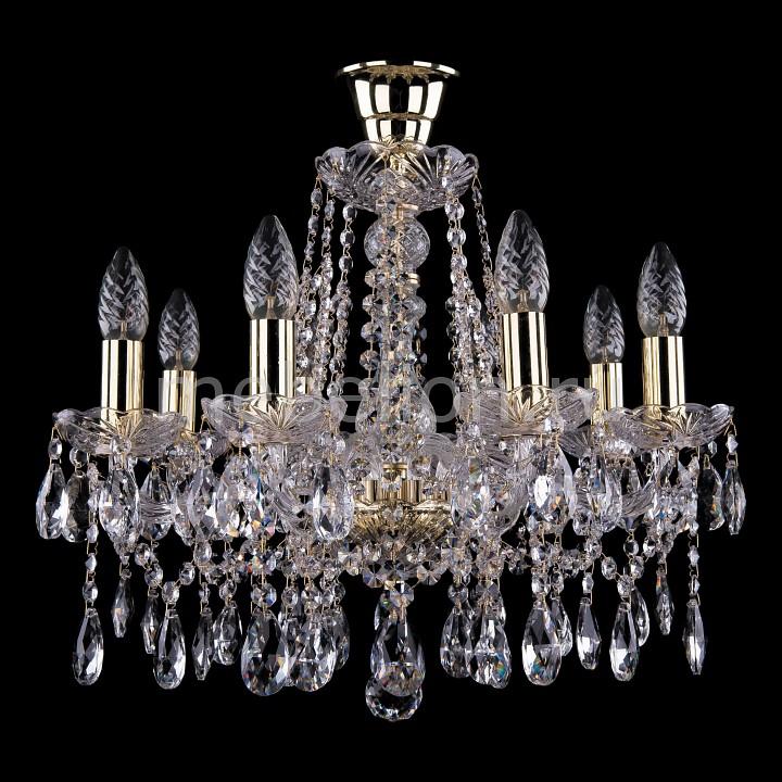 Подвесная люстра Bohemia Ivele Crystal 1413/8/165/G/Tube 1413
