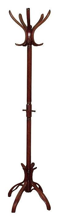 купить Вешалка напольная Мебелик Вешалка-стойка В-12Н махагон по цене 6101 рублей
