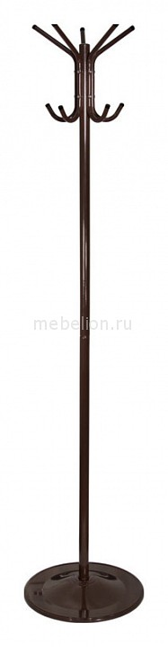 Вешалка напольная Бюрократ Вешалка-стойка Бюрократ CR-001 коричневый основание круглое металлическая H180 см, основ. D36см