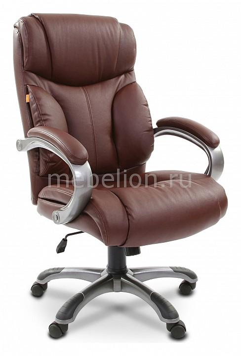 Кресло для руководителя Chairman 435 коричневый/серый, черный