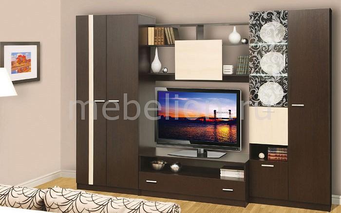 Стенка для гостиной Олимп-мебель Магна-1 венге/дуб линдберг