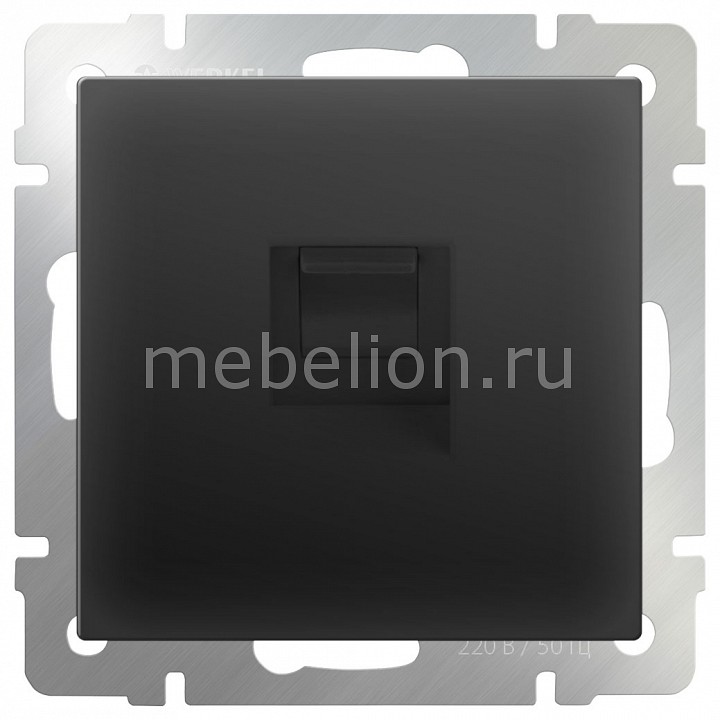 Розетка Ethernet RJ-45 без рамки Werkel Черный матовый WL08-RJ-45 акустическая розетка х4 черный матовый wl08 audiox4 4690389063725