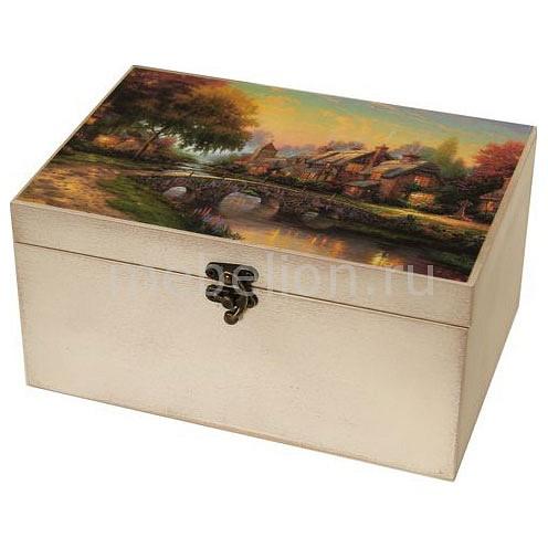 Шкатулка декоративная (26х18х11.5 см) Сказочный пейзаж 1725-15W