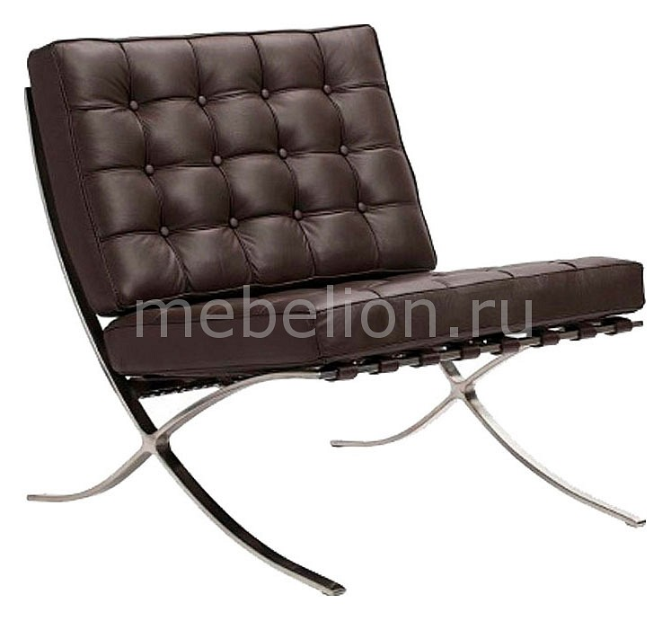 Кресло DG-Home Barcelona Chair DG-F-SF303DBRL стул barcelona dining chair белая натуральная кожа dg f ch563 1