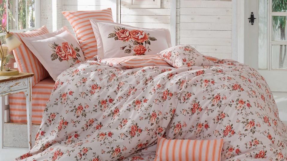 Комплект евростандарт HOBBY Home Collection FLORA светильник avantgarde цвет бордовый персиковый
