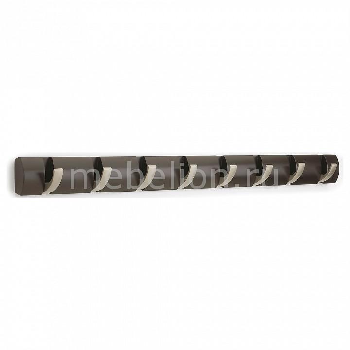 Вешалка настенная Umbra (81х7.5 см) Flip 8 318858-213 umbra вешалка umbra flip настенная 50 8 см 8 крючков дерево металл эсперессо jc wk9xr