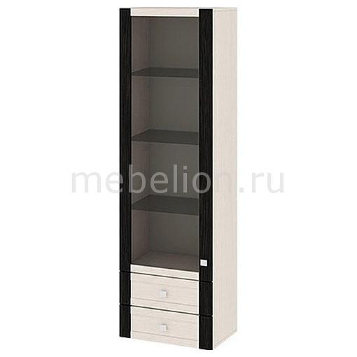 Шкаф-витрина Фиджи ШН2я(12)_32-19_18 дуб белфорт/венге цаво mebelion.ru 7990.000