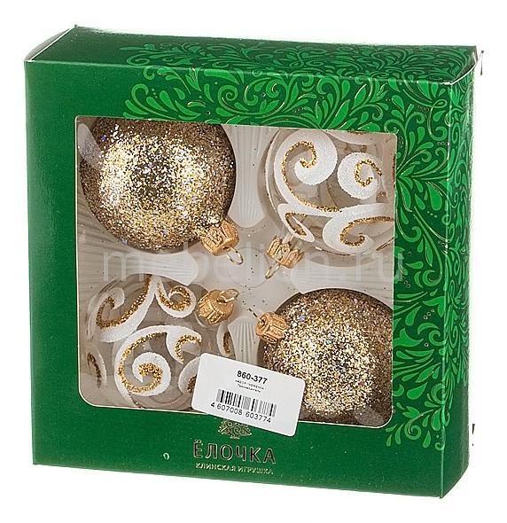 Набор из 4 елочных шаров (6 см) Неженка 860-377