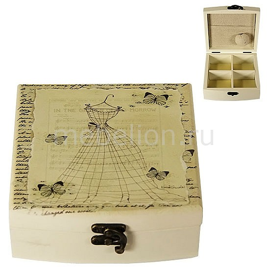 Шкатулка для украшений Акита (14.5х14.5 см) Прованс-AKI HL1118C akita