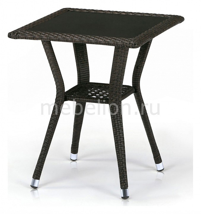 Стол обеденный Afina T25-W53-50x50 Brown комплект мебели из ротанга афина мебель t282bnt w53 y90c w51 2pcs