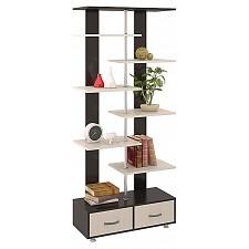 Стеллаж комбинированный Мебель Трия Тип 7 венге цаво/дуб молочный