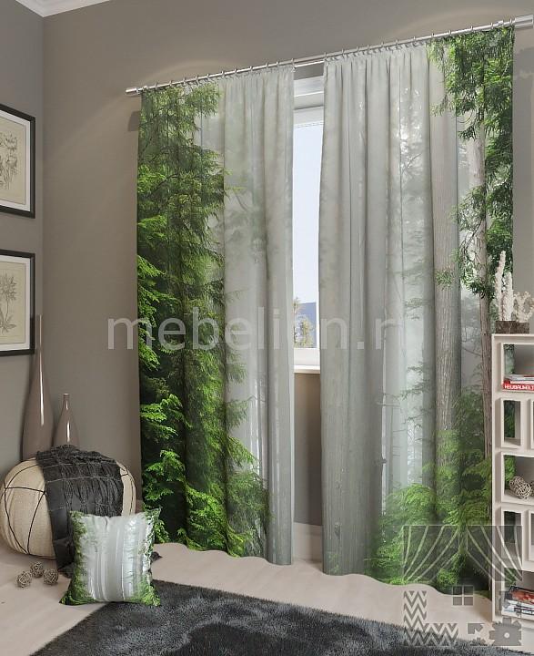 Портьера ТомДом (150х260 см) 2шт. Магический лес цены