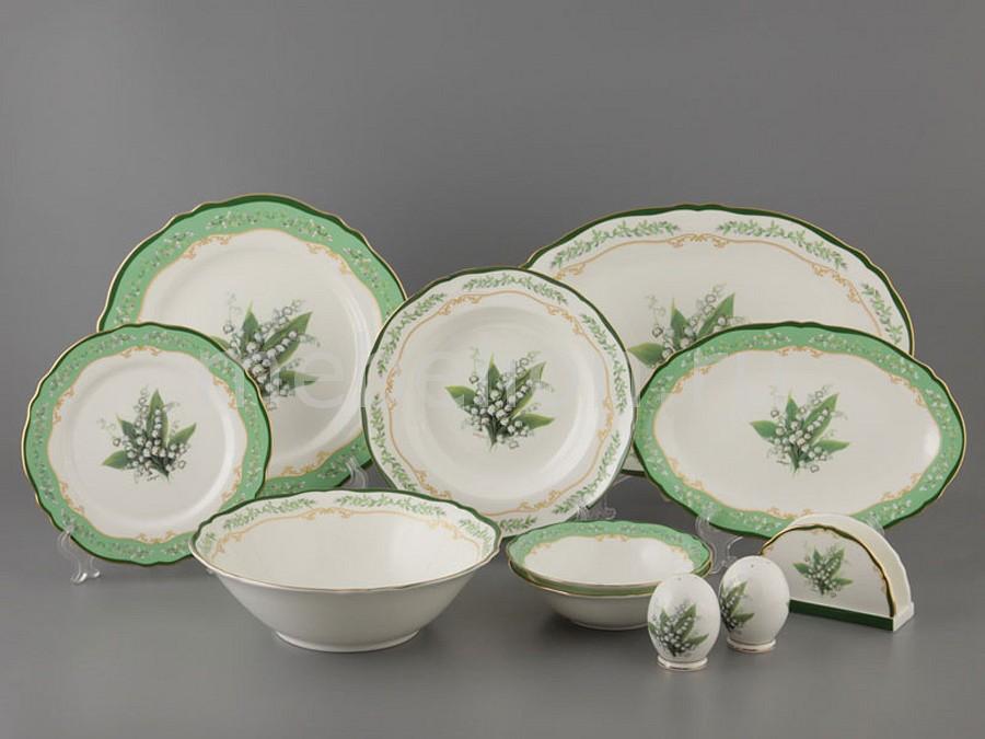 Столовый сервиз Porcelain manufacturing factory Ландыш 264-301 менажница porcelain manufacturing factory 388 097