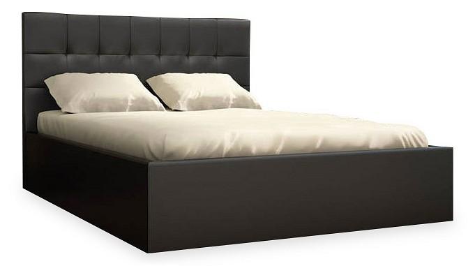 Кровать полутораспальная Находка Real black 01