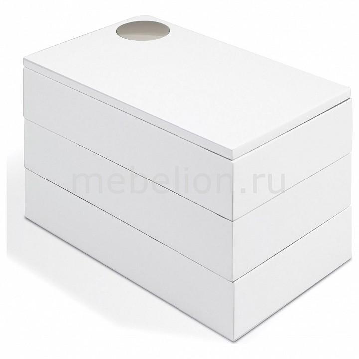 Шкатулка для украшений (19х11х11 см) Spindle 308712-660, Umbra, Россия, белый, дерево  - Купить