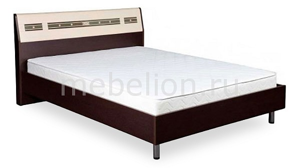 цены Кровать полутораспальная Витра Ривьера 95.02 дуб венге/беленый дуб