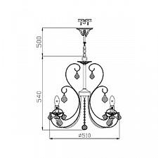Подвесная люстра Maytoni ARM270-05-R Elegant 8