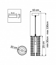 Подвесной светильник Lightstar 795322 Cristallo