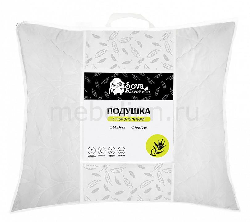 Подушка Сова и Жаворонок (70х70 см) Эвкалипт СиЖ одеяло евростандарт сова и жаворонок шелк сиж