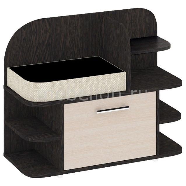 Мебель Трия Тумба для обуви Т3 Арт (мини) венге цаво/дуб белфорт тумбочка мебель трия прикроватная токио пм 131 03 см дуб белфорт венге цаво