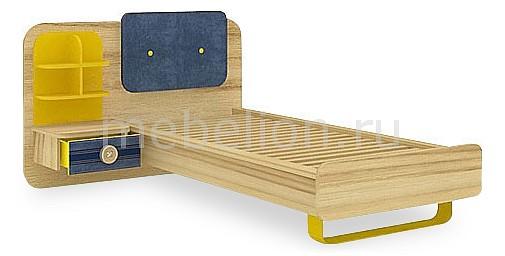 Кровать детская Джинс 507.100 сантана/джинс/желтый бриллиант