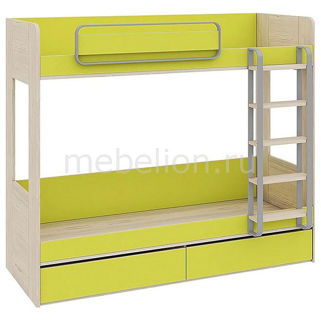 цены  Кровать двухъярусная Мебель Трия Аватар СМ-201.01.001 каттхилт/лайм