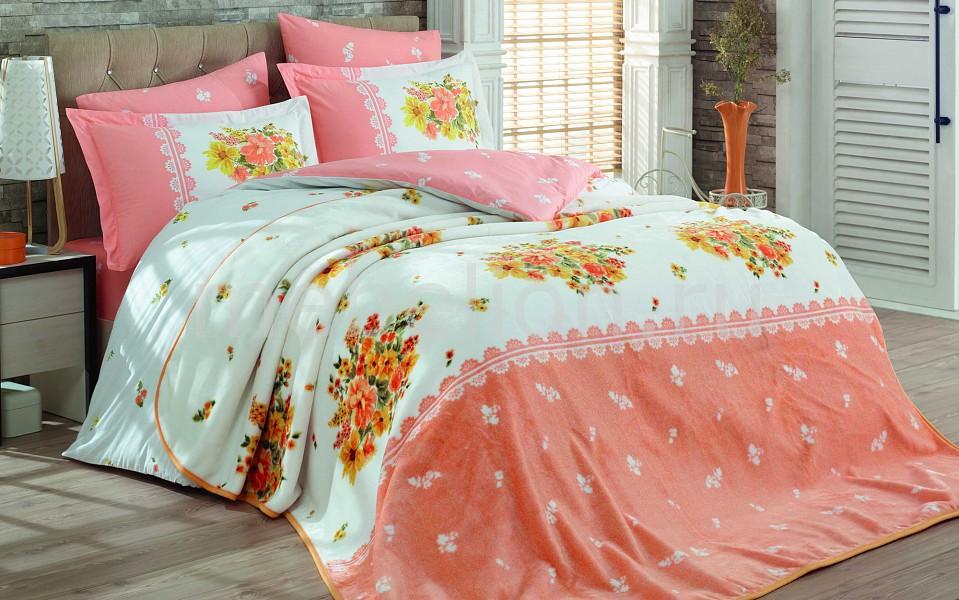 Комплект с покрывалом евростандарт HOBBY Home Collection ALVIS комплект белья hobby home collection alvis 1 5 спальный наволочки 50x70 70x70 цвет персиковый
