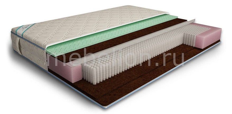 Матрас полутораспальный Дрема Микропакет Латекс Aloe Мидл Эконом 1900х1200 матрас полутораспальный дрема микропакет мидл эконом 1950х1200