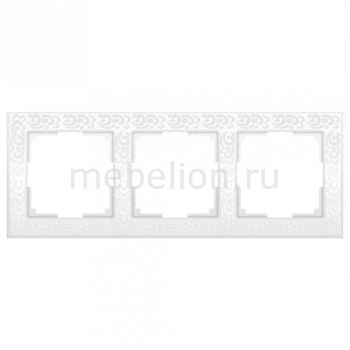 Рамка на 3 поста Werkel Flock WL05-Frame-03-white 46g flock
