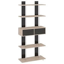 Стеллаж комбинированный Мебель Трия Тип 5 венге цаво/дуб сонома
