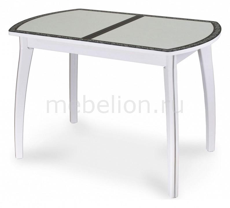 Стол обеденный Домотека Чинзано ПО со стеклом стол обеденный со стеклом