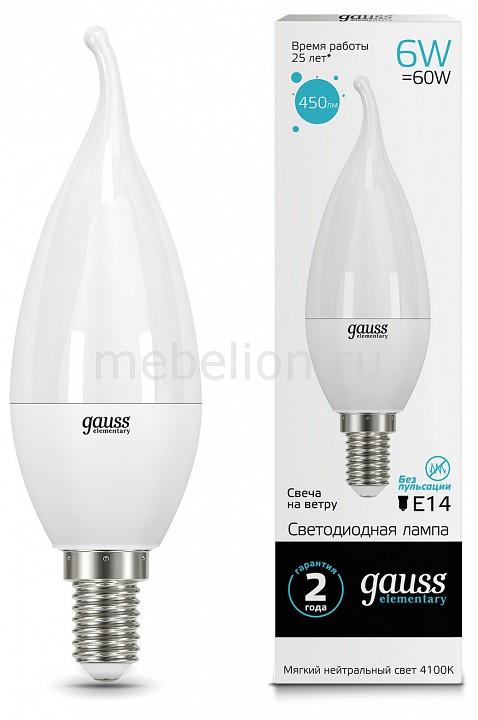 Лампа светодиодная Gauss 341 E14 180-240В 6Вт 4100K 34126