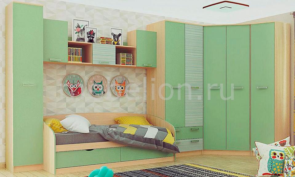 Гарнитур для детской Рико Модерн № 2 зеленый
