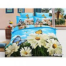 Комплект полутораспальный Arya Сатин Печатное 3D Wıld Flower F9728605