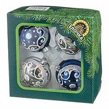 Набор елочных шаров АРТИ-М Набор из 4 елочных шаров (6 см) Интрига 860-370