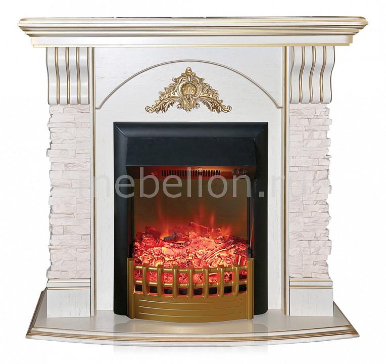 Купить Электрокамин напольный (105х41х100 см) Atnena 00010012361, Real Flame, Россия, белый дуб с патиной, железо, МДФ, стекло, шпон