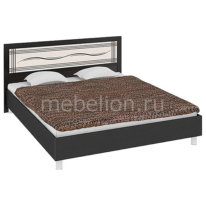 Кровать двуспальная Токио СМ-131.01.003 венге цаво/венге цаво/дуб белфорт mebelion.ru 11990.000