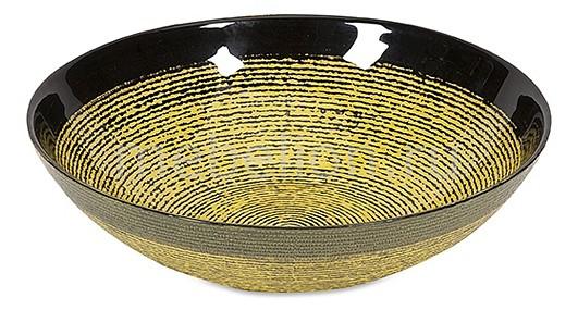 Чаша декоративная (25 см) Black & Gold 83189