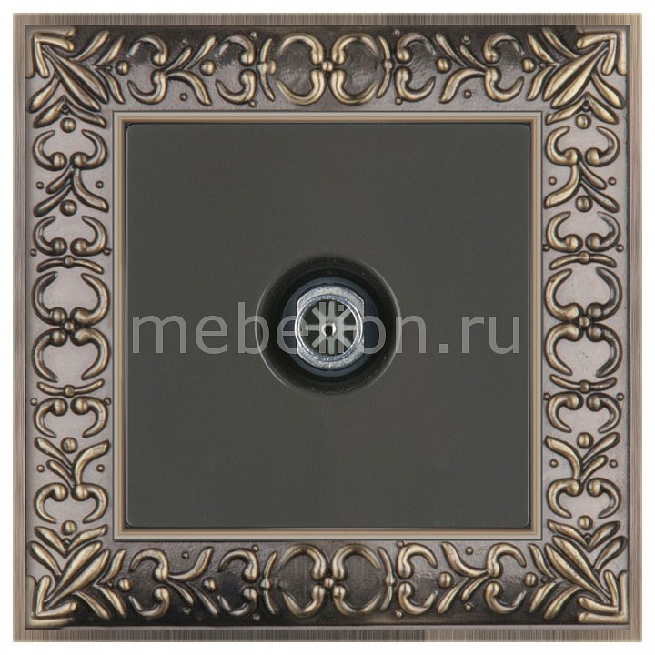 ТВ-розетки проходные Werkel Antik (Серо-коричневый) WL07-SW-3G+WL07-TV-2W бра colosseo susanna 80311 2w