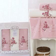Набор полотенец для ванной Karna Набор из 3 полотенец для ванной PAPILON