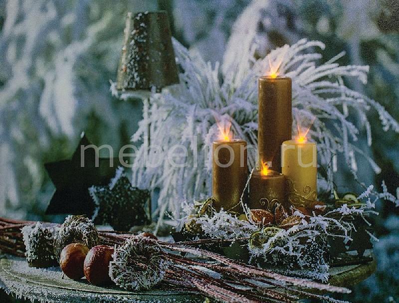 Панно световое Feron 26972 LT115 Золотые свечи