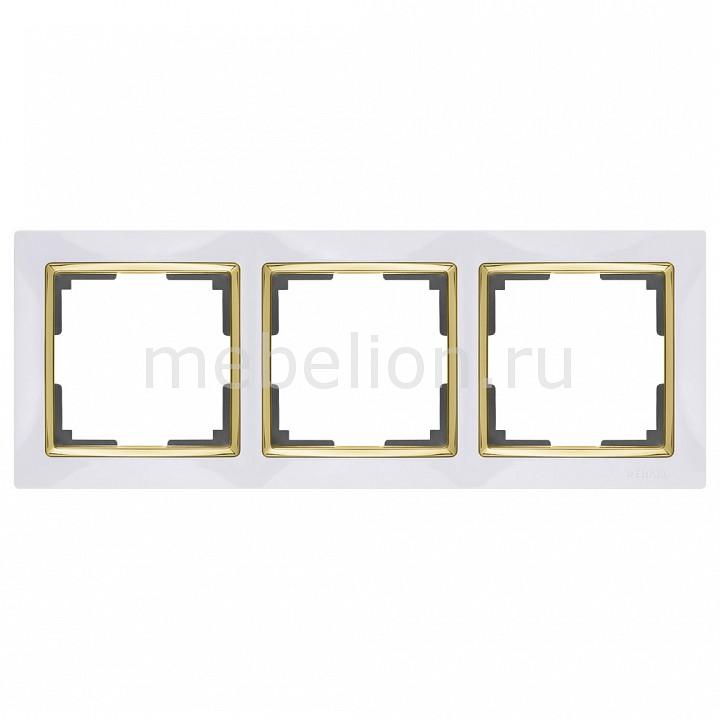 Рамка на 3 поста Werkel Snabb WL03-Frame-03-white-GD