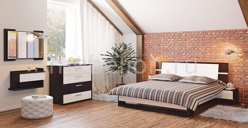 Гарнитур для спальни Барселона белый глянец/дуб ниагара mebelion.ru 87551.000
