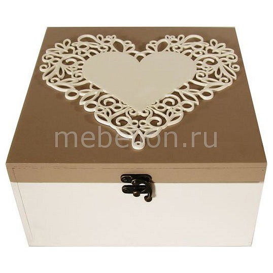 Шкатулка декоративная (24х24х13 см) Сердце 1012